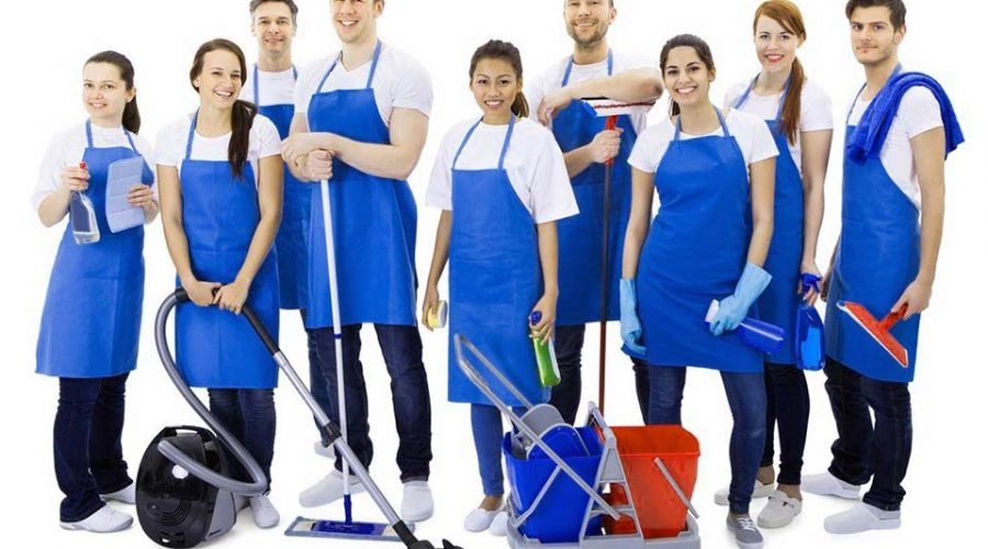 Chiago office cleaning crew ready